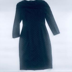 French Connection Black Midi Dress